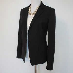 ANN TAYLOR Size 10 Black Suit Jacket Blazer